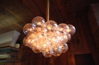 Custom designed and hand made, our take on the classic modern chandelier
